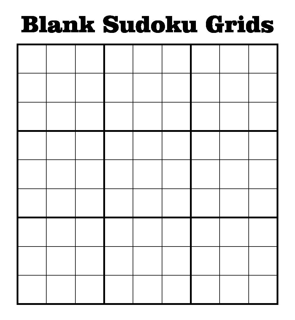 Unusual image inside blank sudoku grid printable
