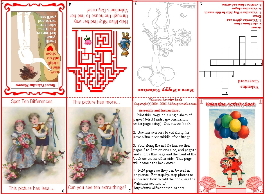 4 Images of Printable Mini Activity Books