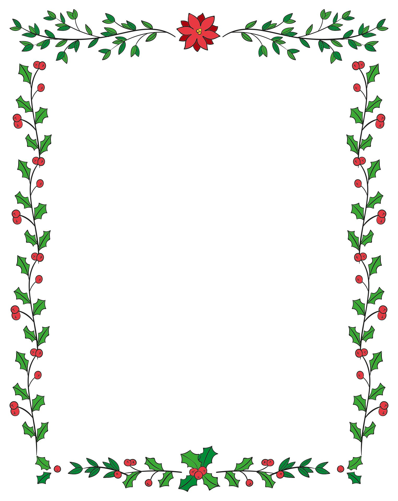 7 Images of Printable Christmas Borders Landscape