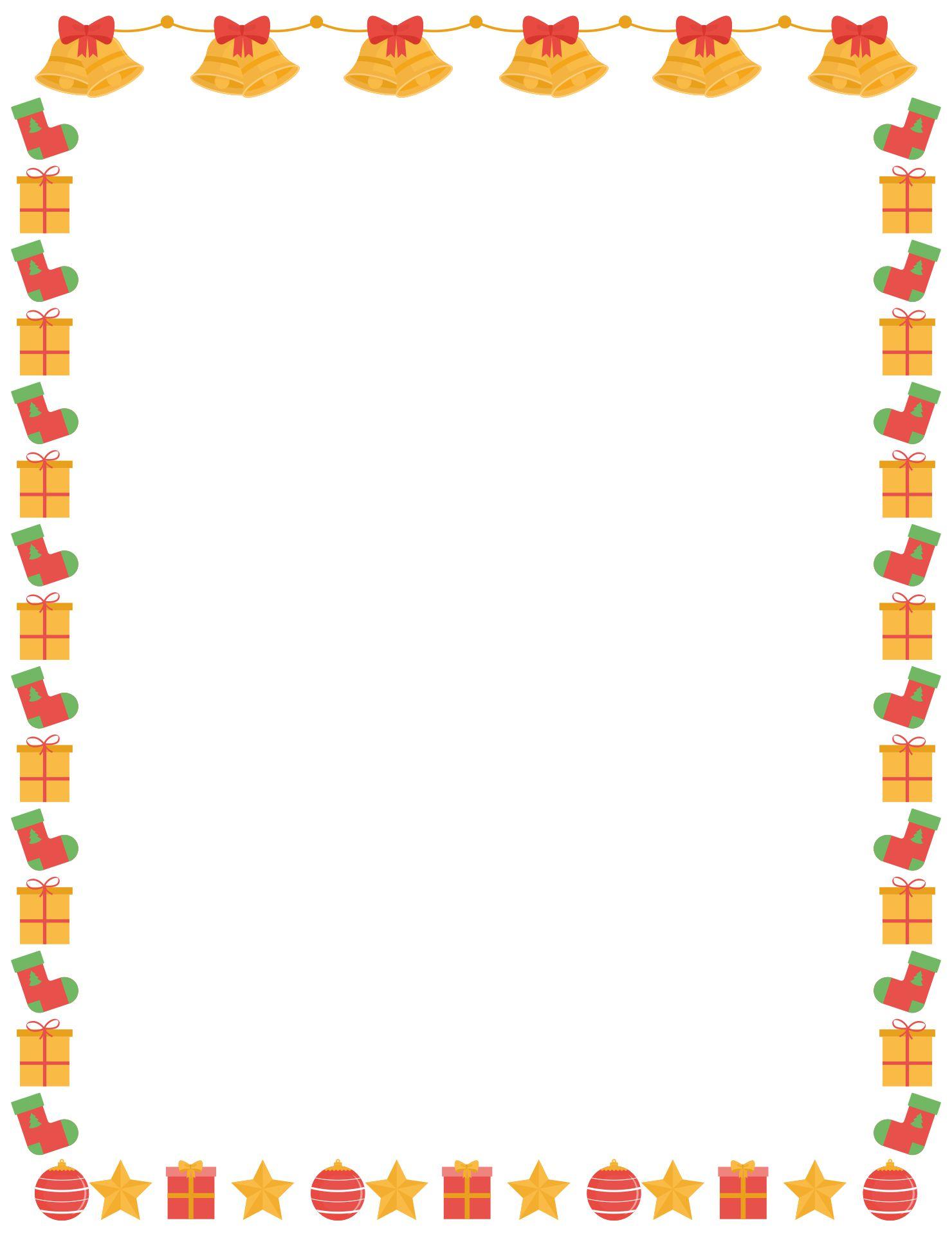 Printable Christmas Paper Borders