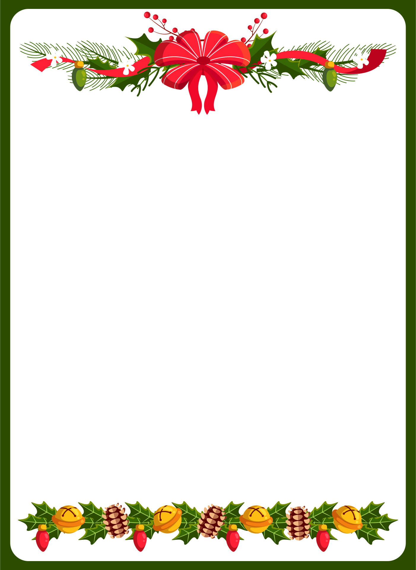 Landscape borders for word : Best images of printable christmas borders landscape free