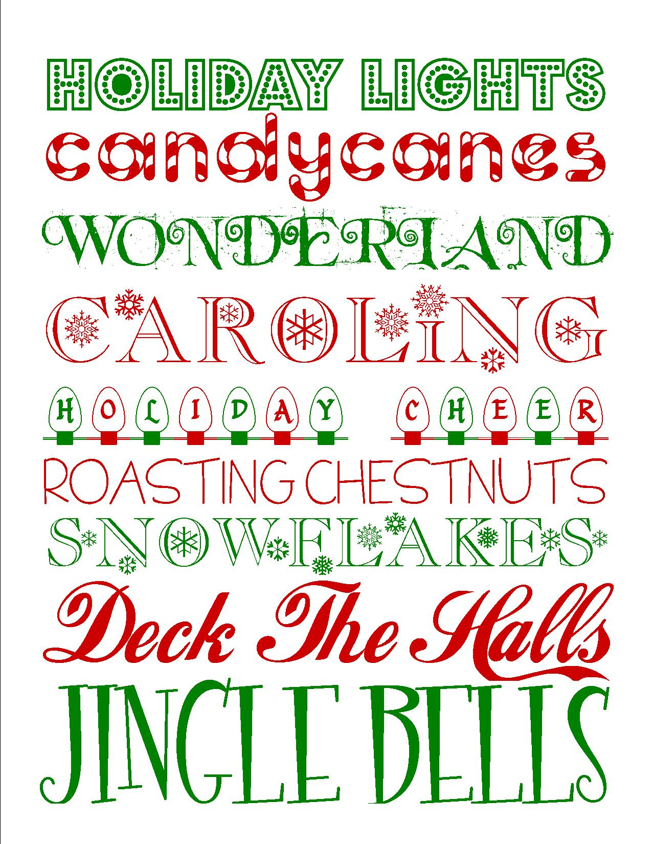 8 Images of Printable Christmas Font