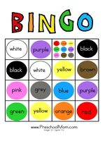 4 Images of Printable Color Bingo For Preschoolers