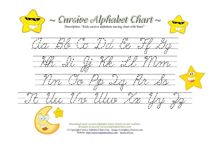 5 Images of Printable Cursive Alphabet Chart