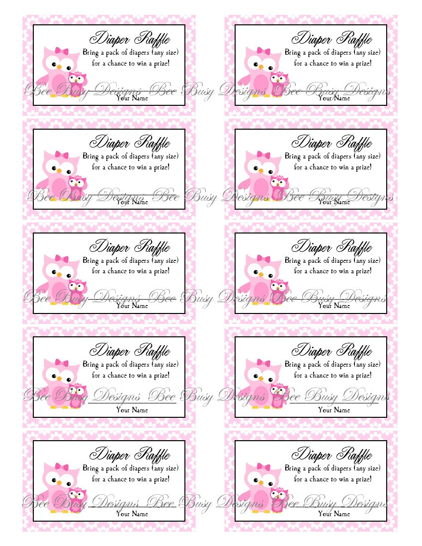 Free Printable Baby Shower Raffle Tickets Template 9 best images of ...