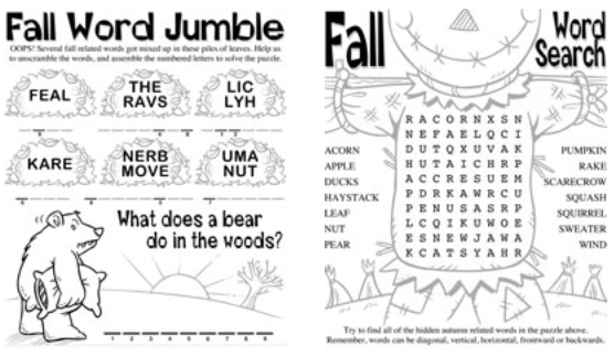7 Images of Printable Fall Word Search Worksheets