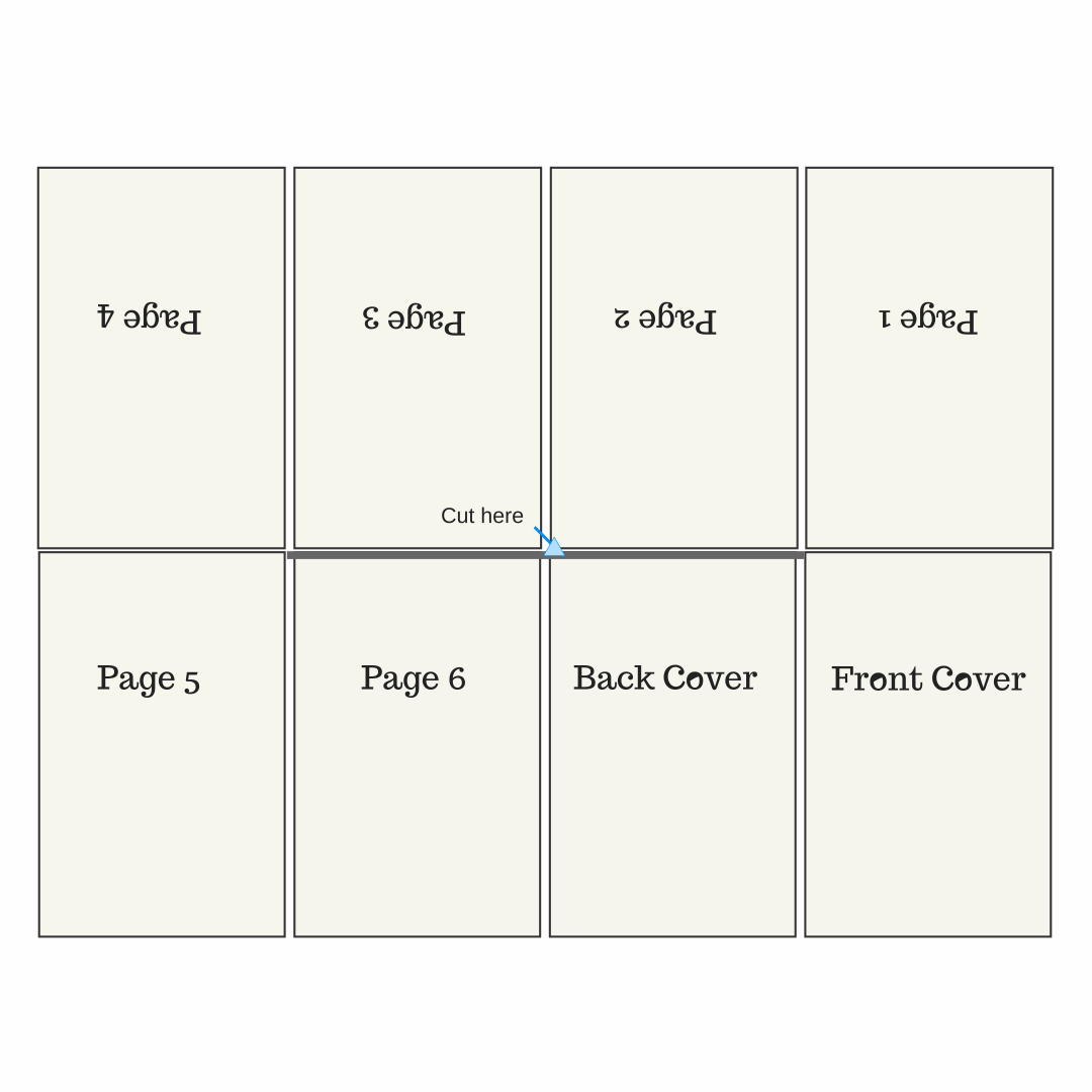 Printable Folding Book Template