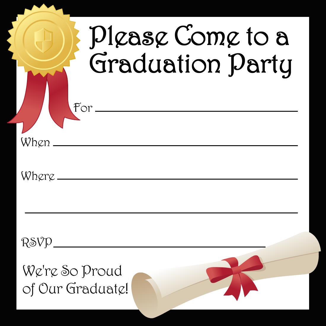 7 Images of Free Printable Graduation Party Templates
