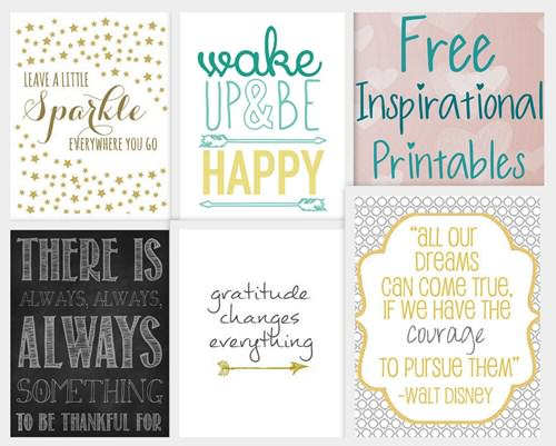 Free Printable Inspirational Quotes for Walls