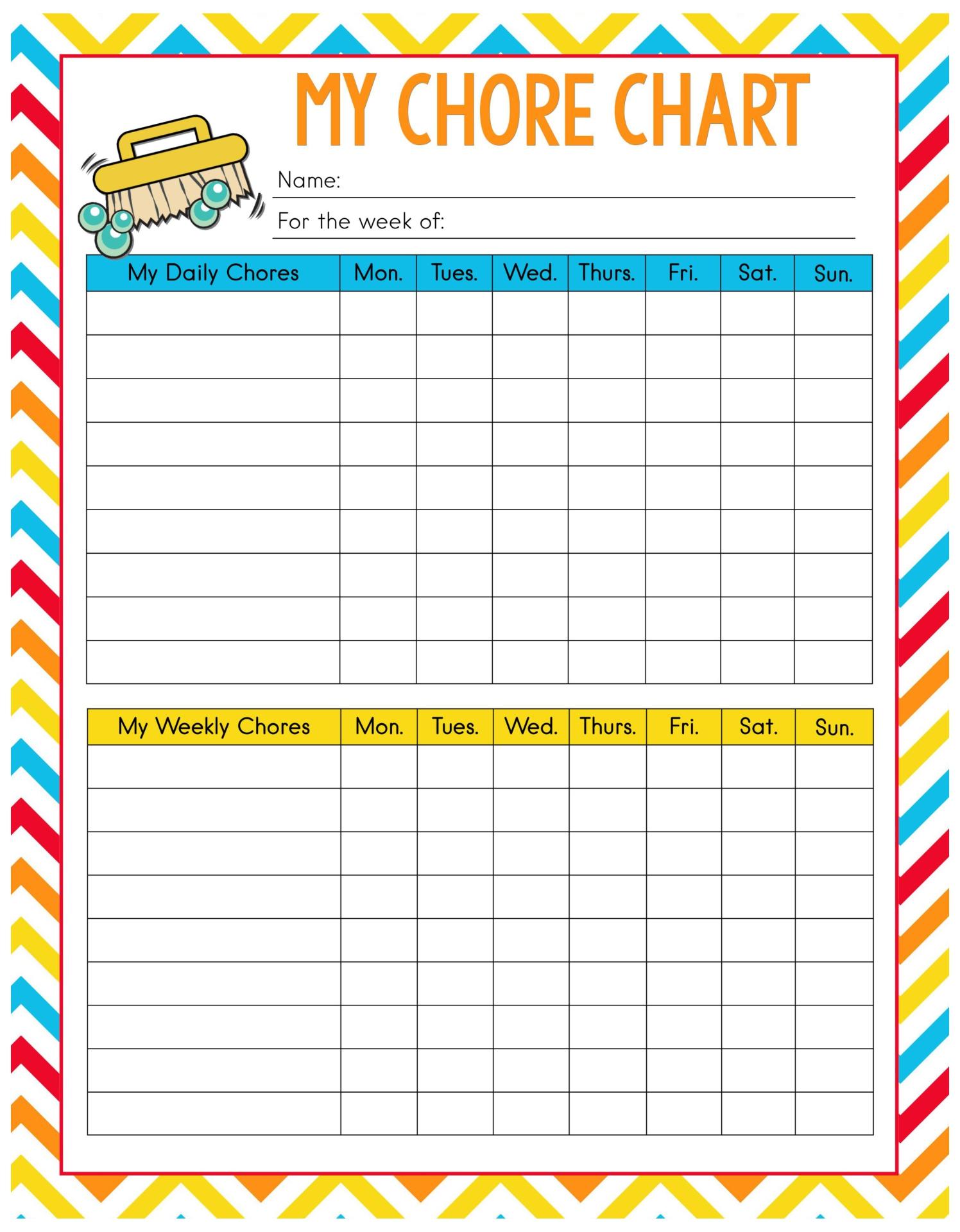 Printable Kids Chore Charts