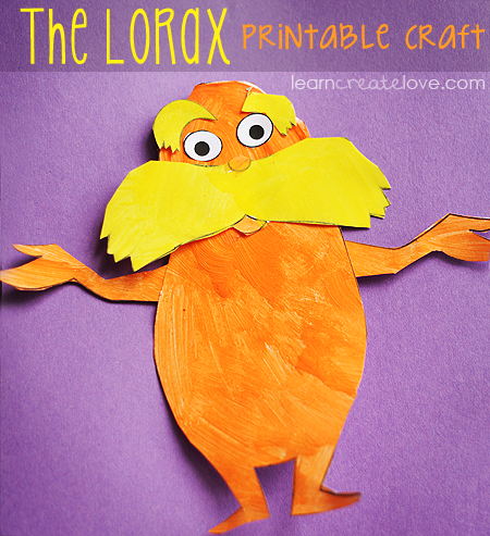 7 Images of Printable Lorax Crafts