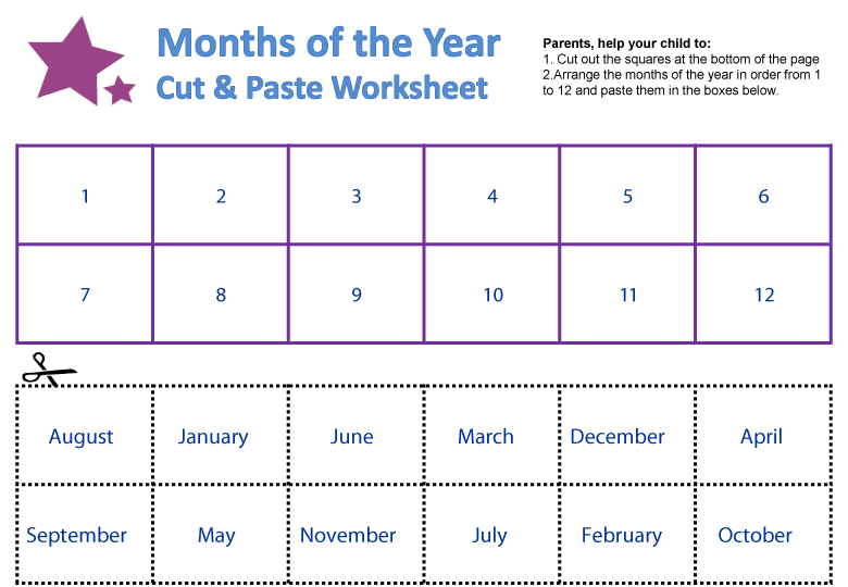 Number Names Worksheets : months of the year printables Months Of ...