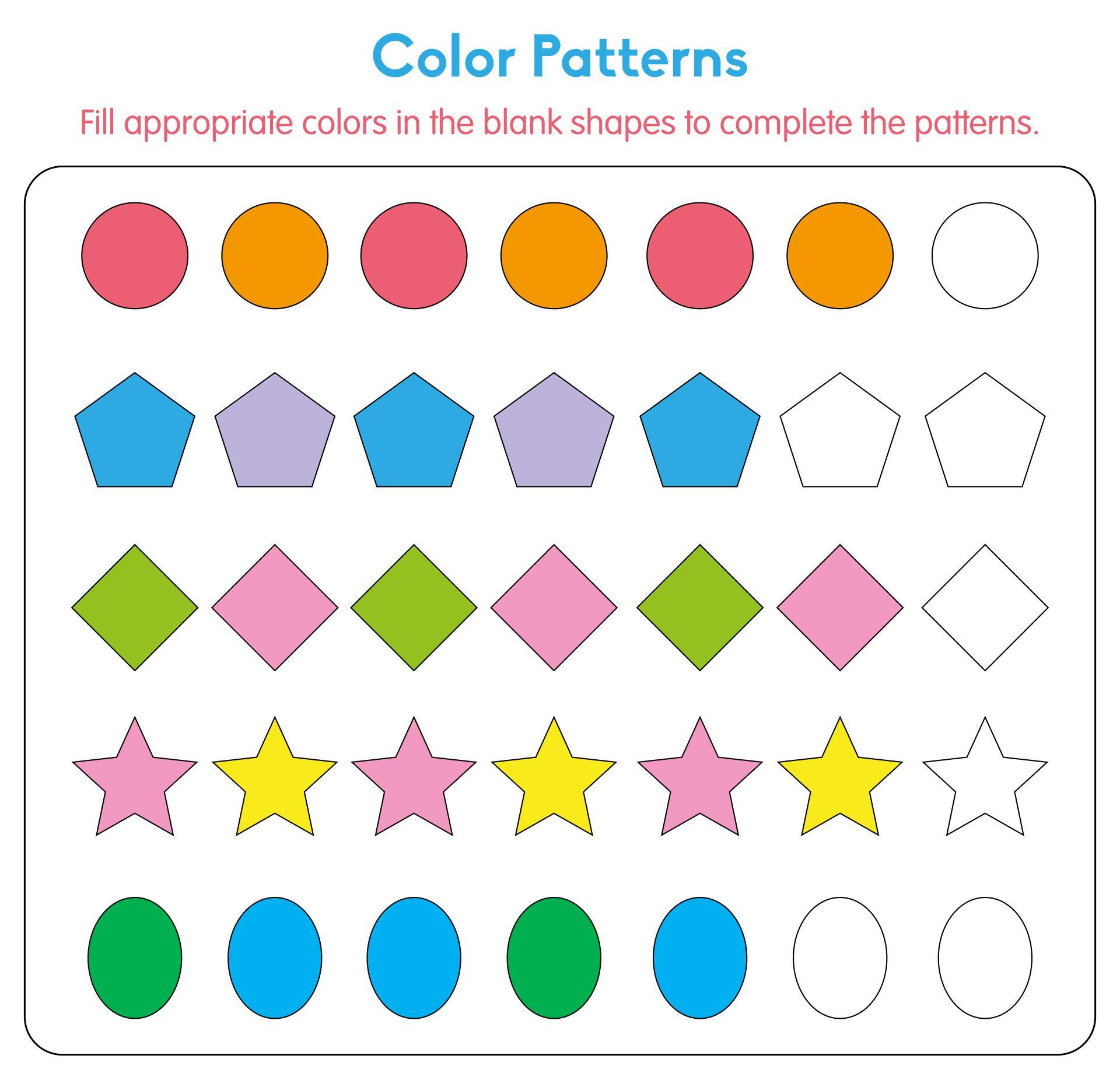 Printable Pattern Worksheets