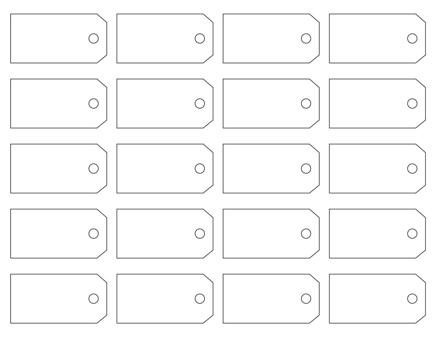 7 Images of Printable Tags Template