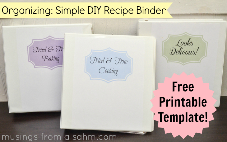 5 Images of Free Printable Recipe Binder Divider Templates