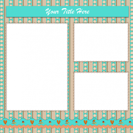 7 Images of Free Printable Scrapbook Page Layouts