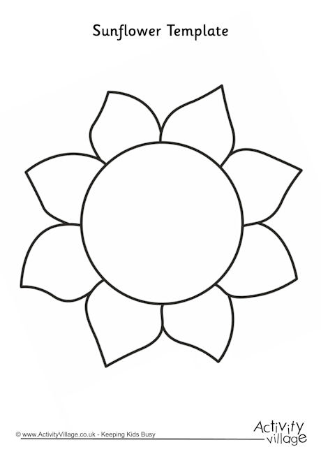 6 Images of Sunflower Outline Printable