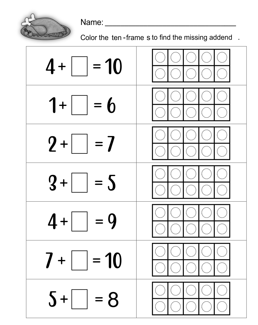 math worksheet : 7 best images of printable thanksgiving math worksheets for  : Thanksgiving Math Worksheets Kindergarten
