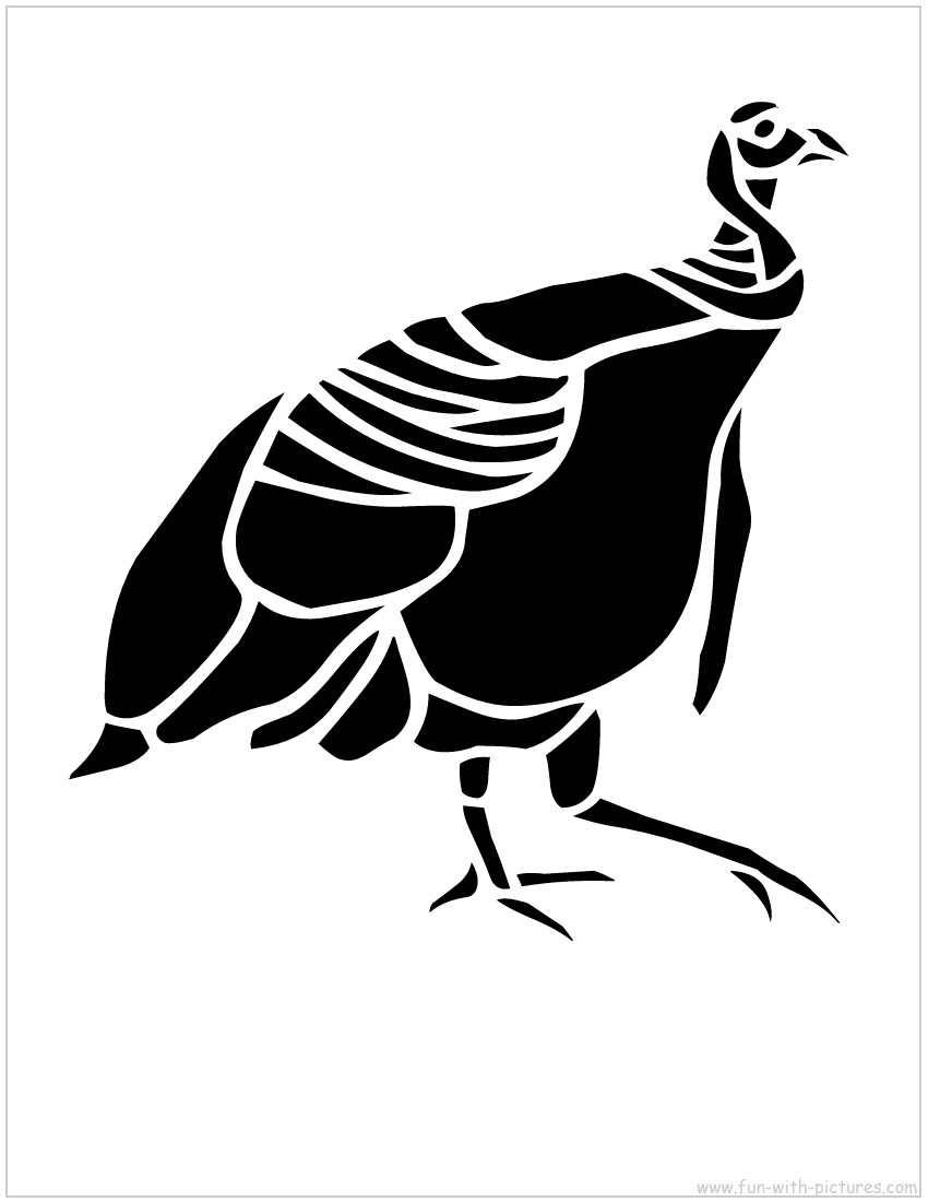 7 Images of Turkey Stencils Printable