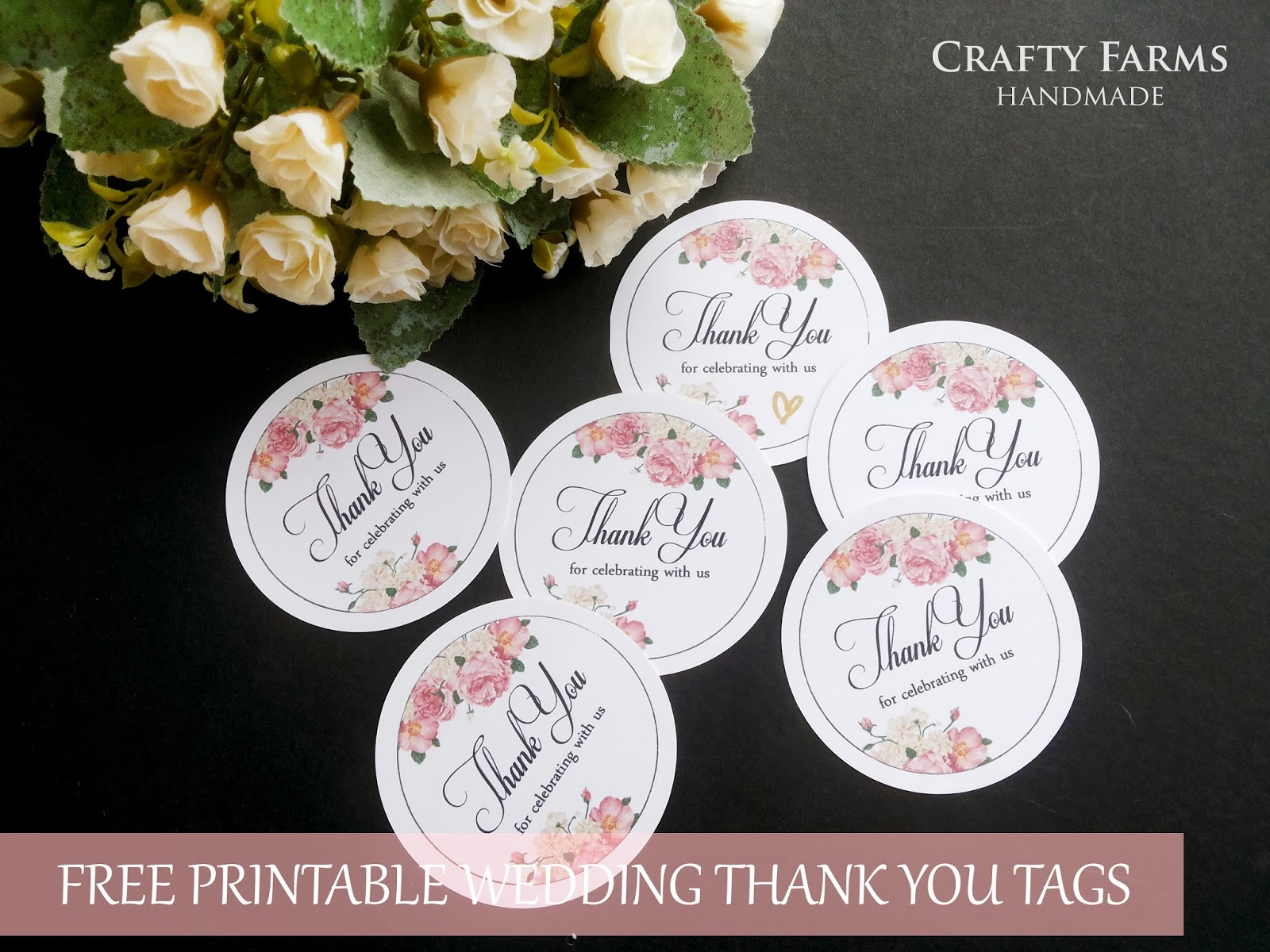4 Images of Flower Thank You Tags Printable
