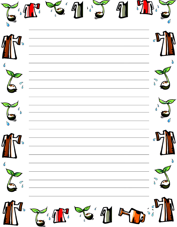 Free Printable Writing Paper with Borders