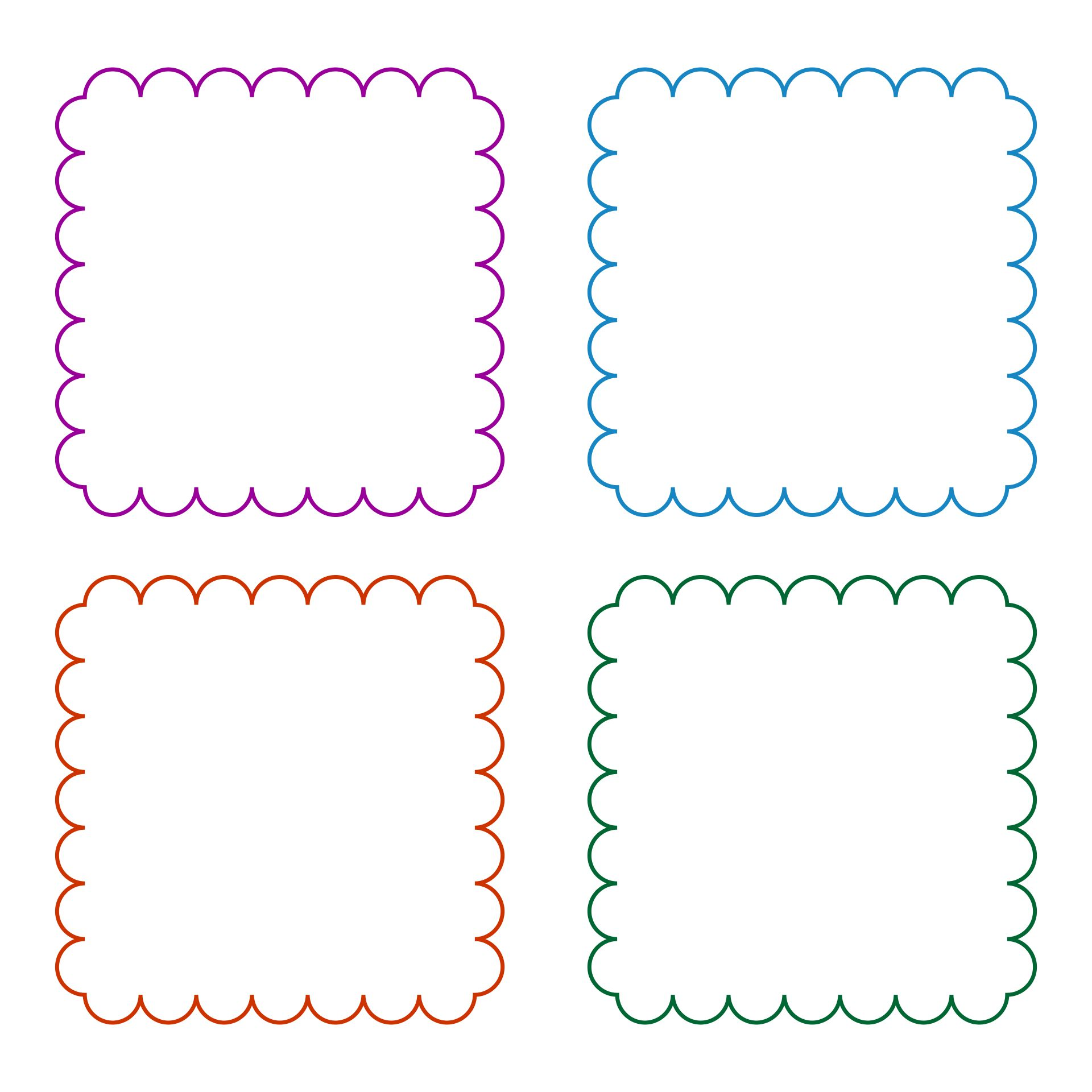 Scalloped Square Template