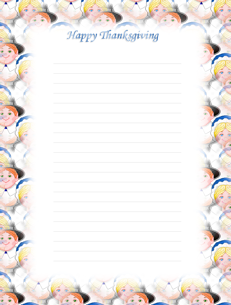 6 Images of Thanksgiving Free Printable Lined Stationary