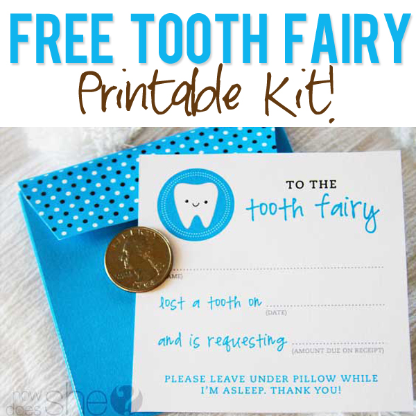 6 Images of Tooth Fairy Printables Free