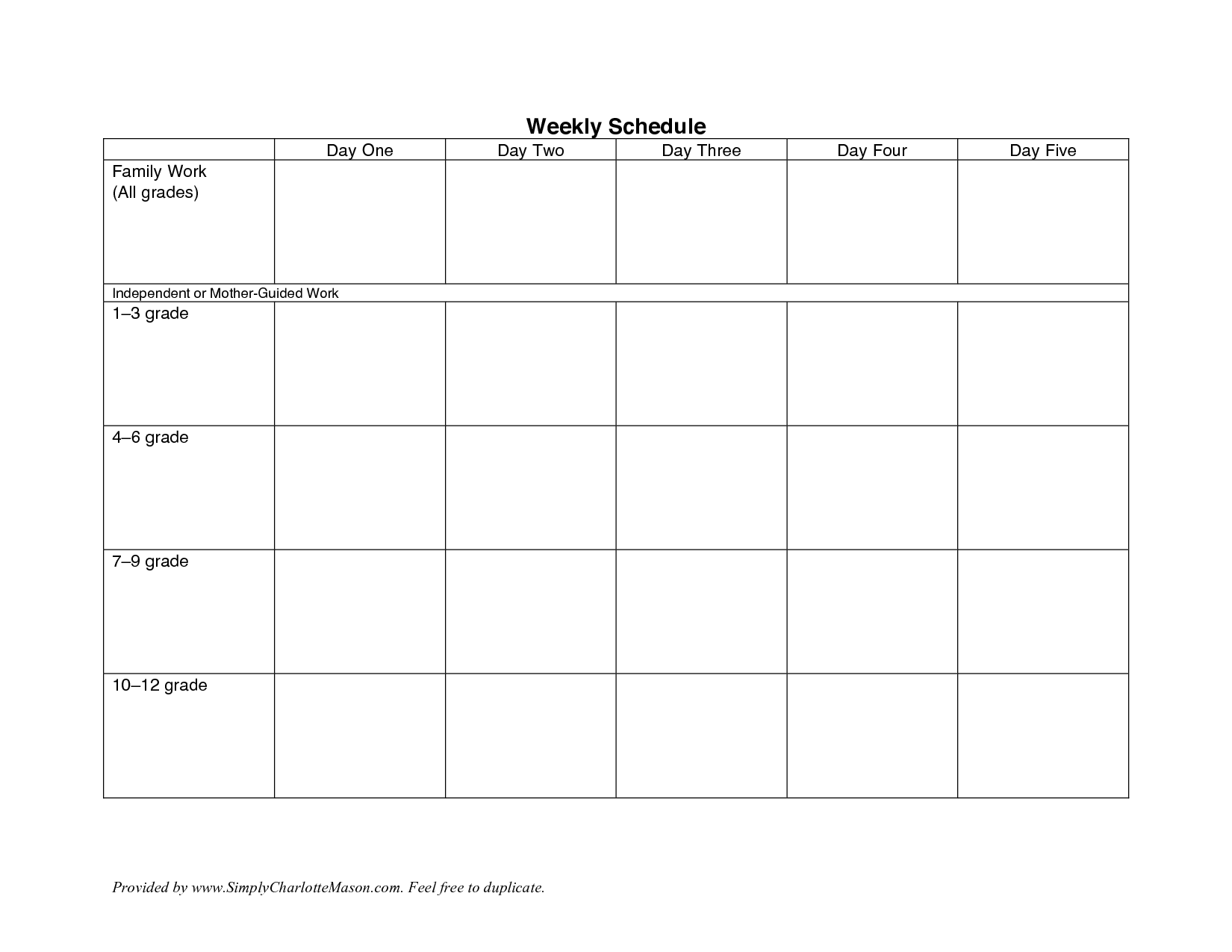 7 Images of Free Printable Weekly Schedule Template