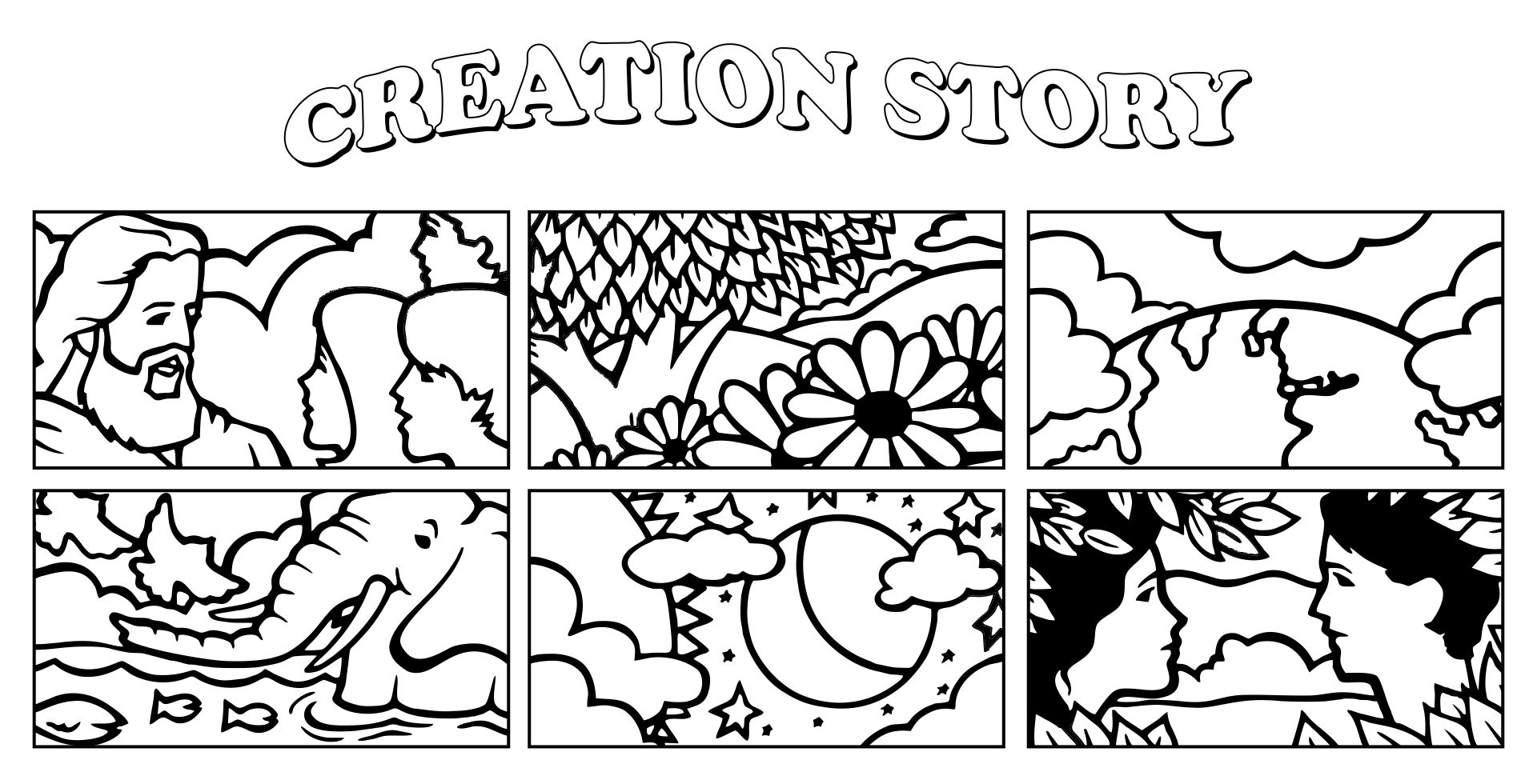 Gods Creation Coloring Pages