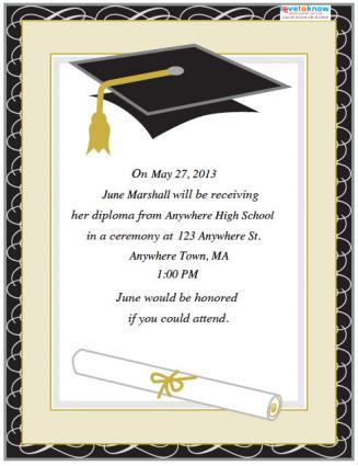 7 Images of College Graduation Invitations Free Printable