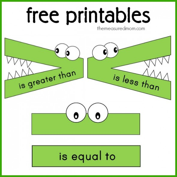 6 Images of Free Printable Greater Than Less Than