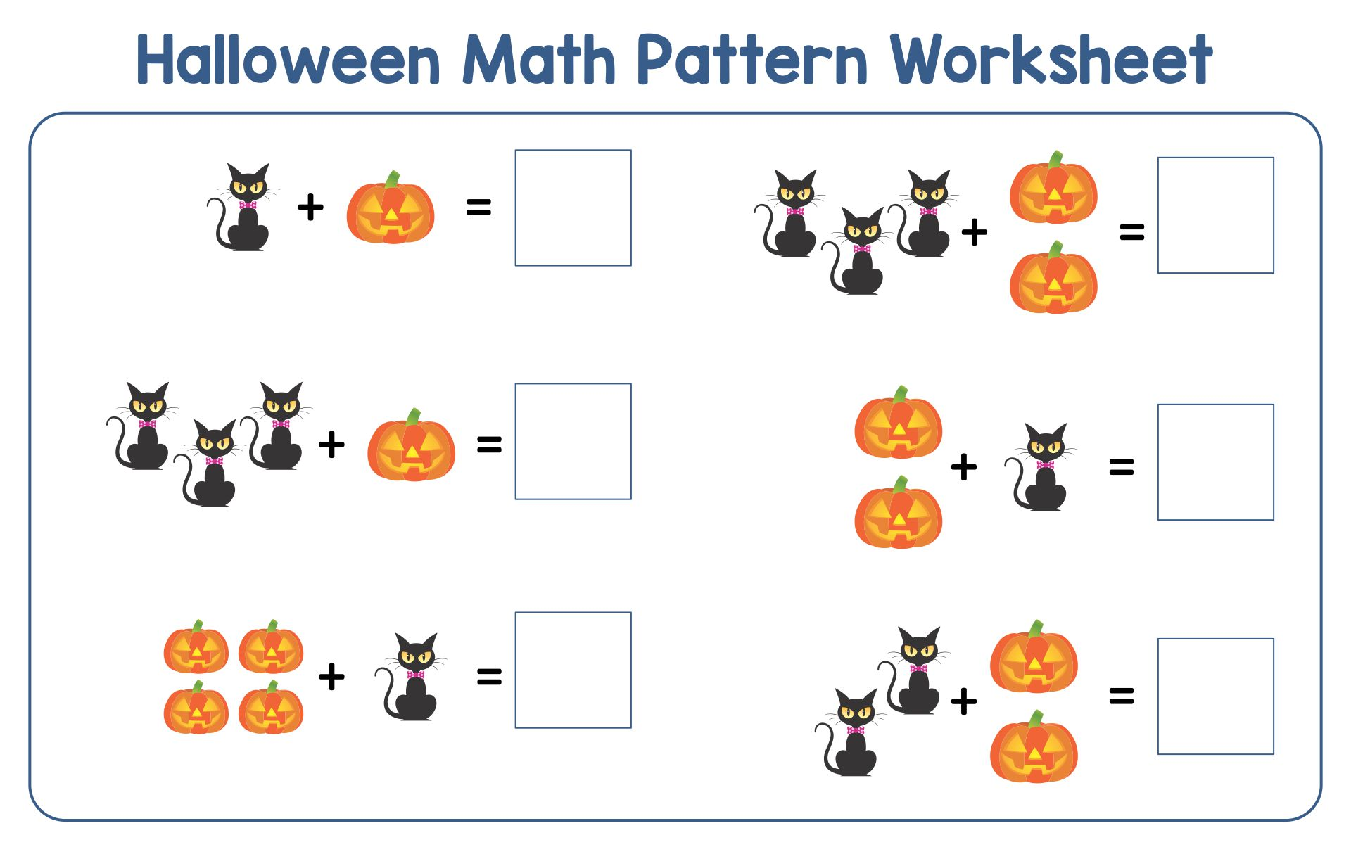 math worksheet : 8 best images of halloween worksheets free printable pattern  : Ab Pattern Worksheets For Kindergarten