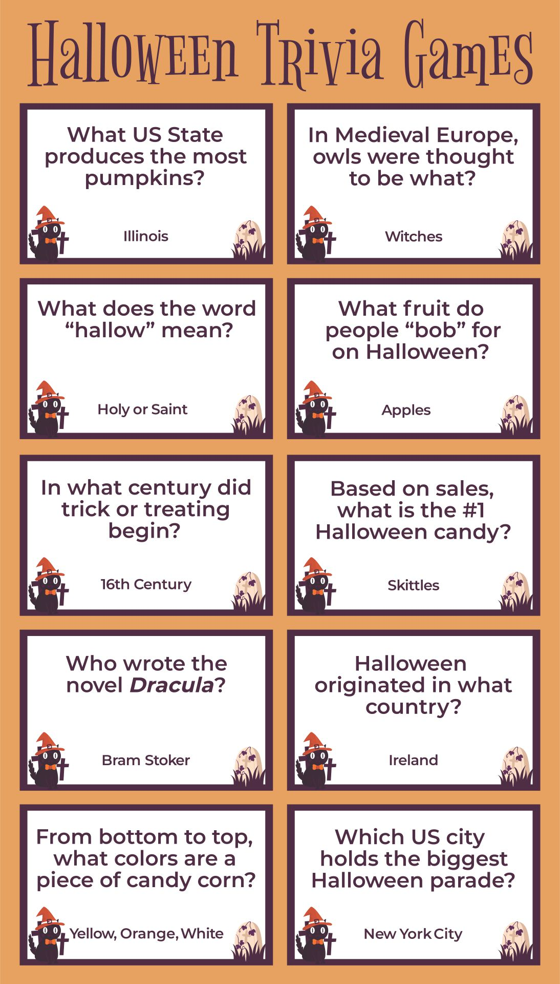 Halloween Trivia Questions and Answers