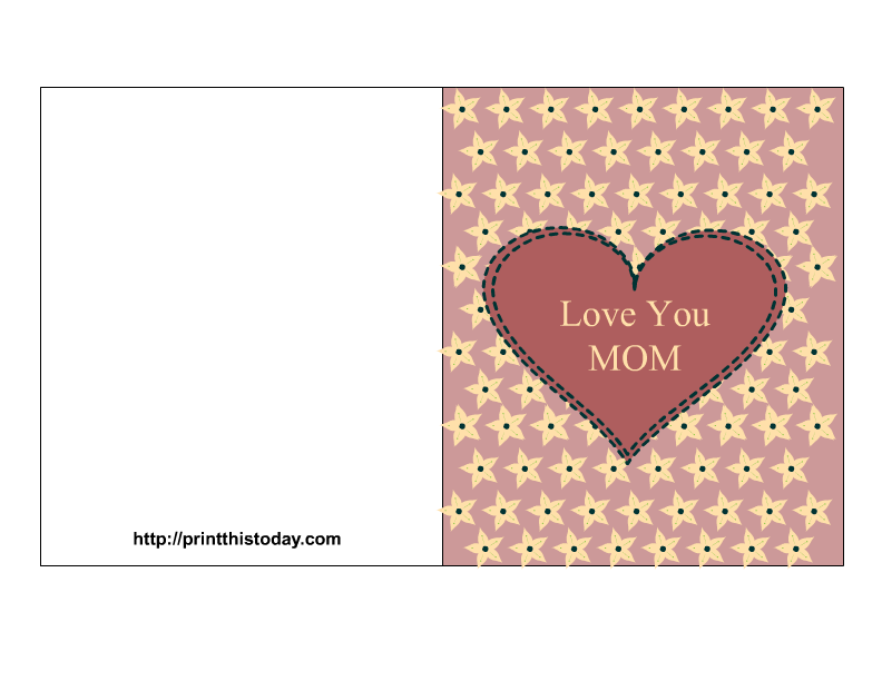 5 Images of I Love You Mom Cards Printable
