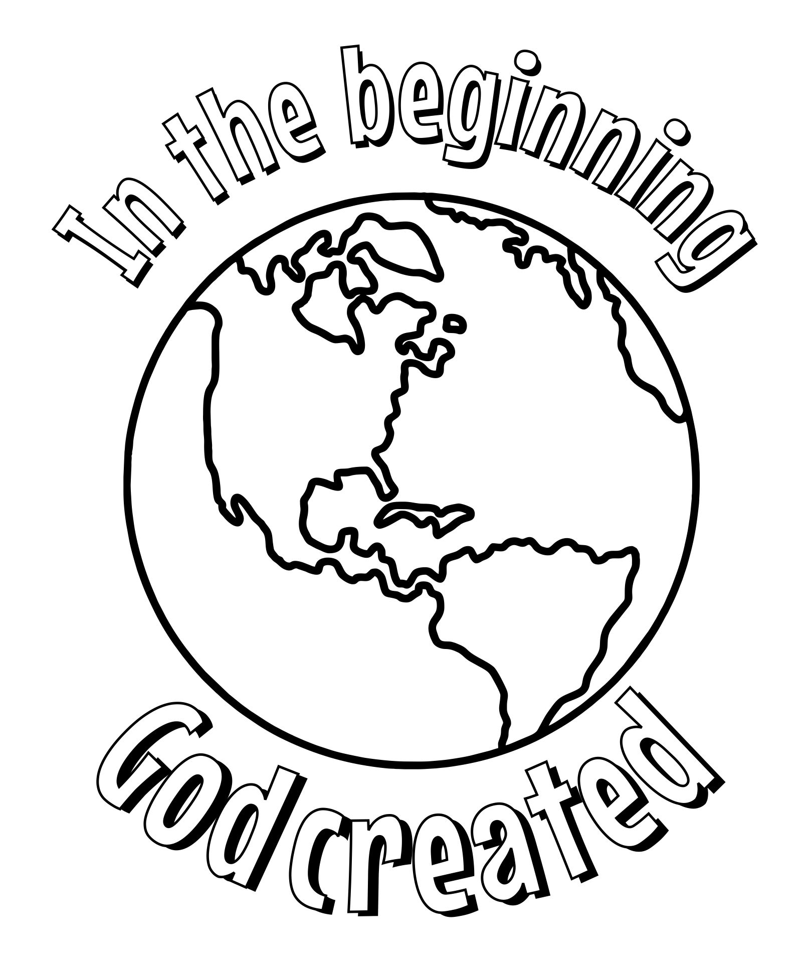 In the Beginning God Created Coloring Pages