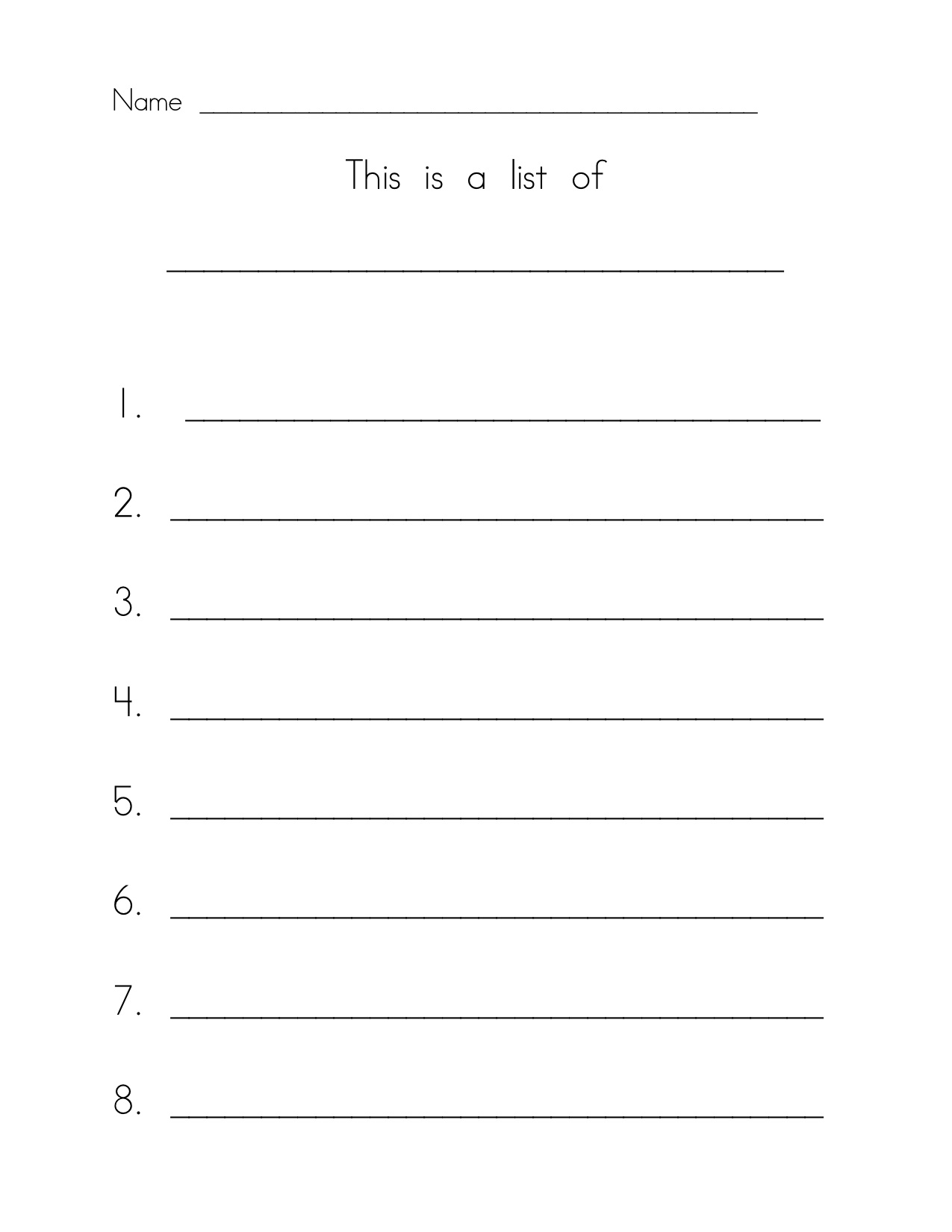 lined paper for kindergarten writing