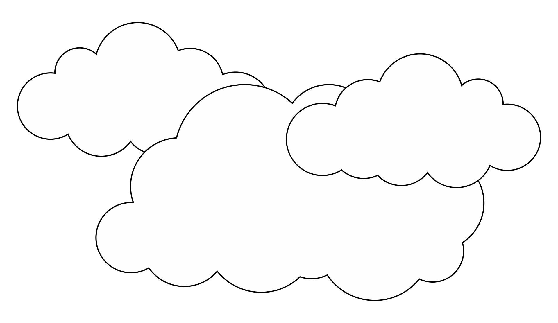 Large Cloud Coloring Page