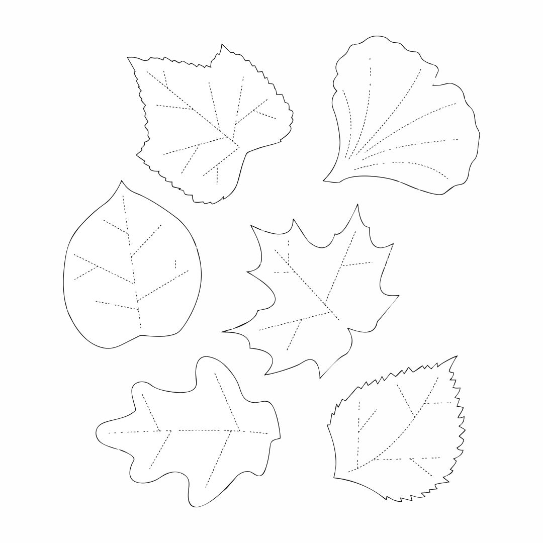 6 best images of paper printable leaf patterns fall leaf for Leaf cut outs templates
