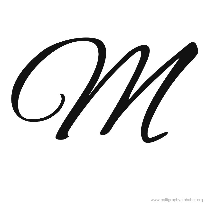 9 Best Images of Printable Calligraphy Letters M ...