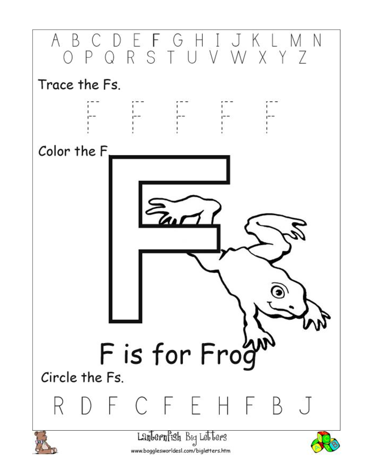 Printables Free Printable Letter Recognition Worksheets 7 best images of free printable letter recognition kindergarten o coloring pages