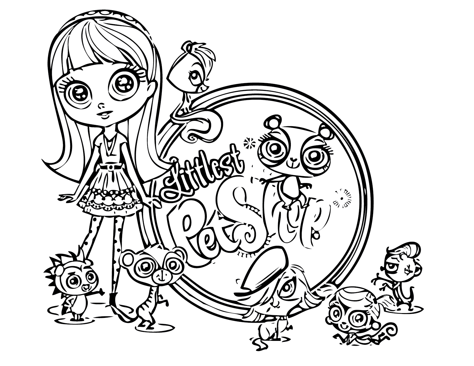 6 Images of Littlest Pet Shop Coloring Pages Printable