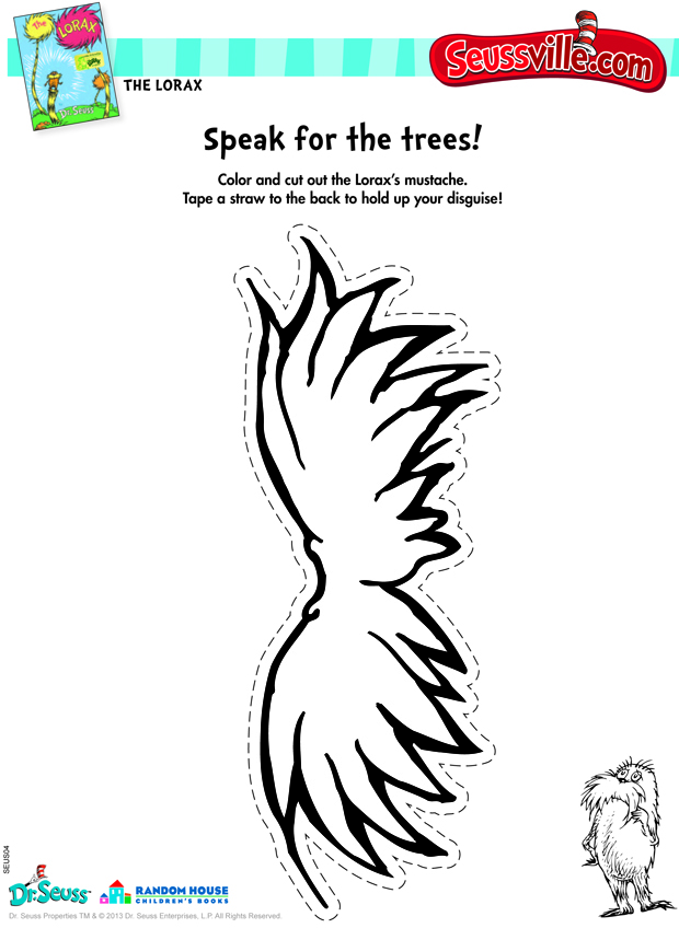 Images of Printable Lorax Crafts - Free Printable Lorax Crafts, Lorax ...