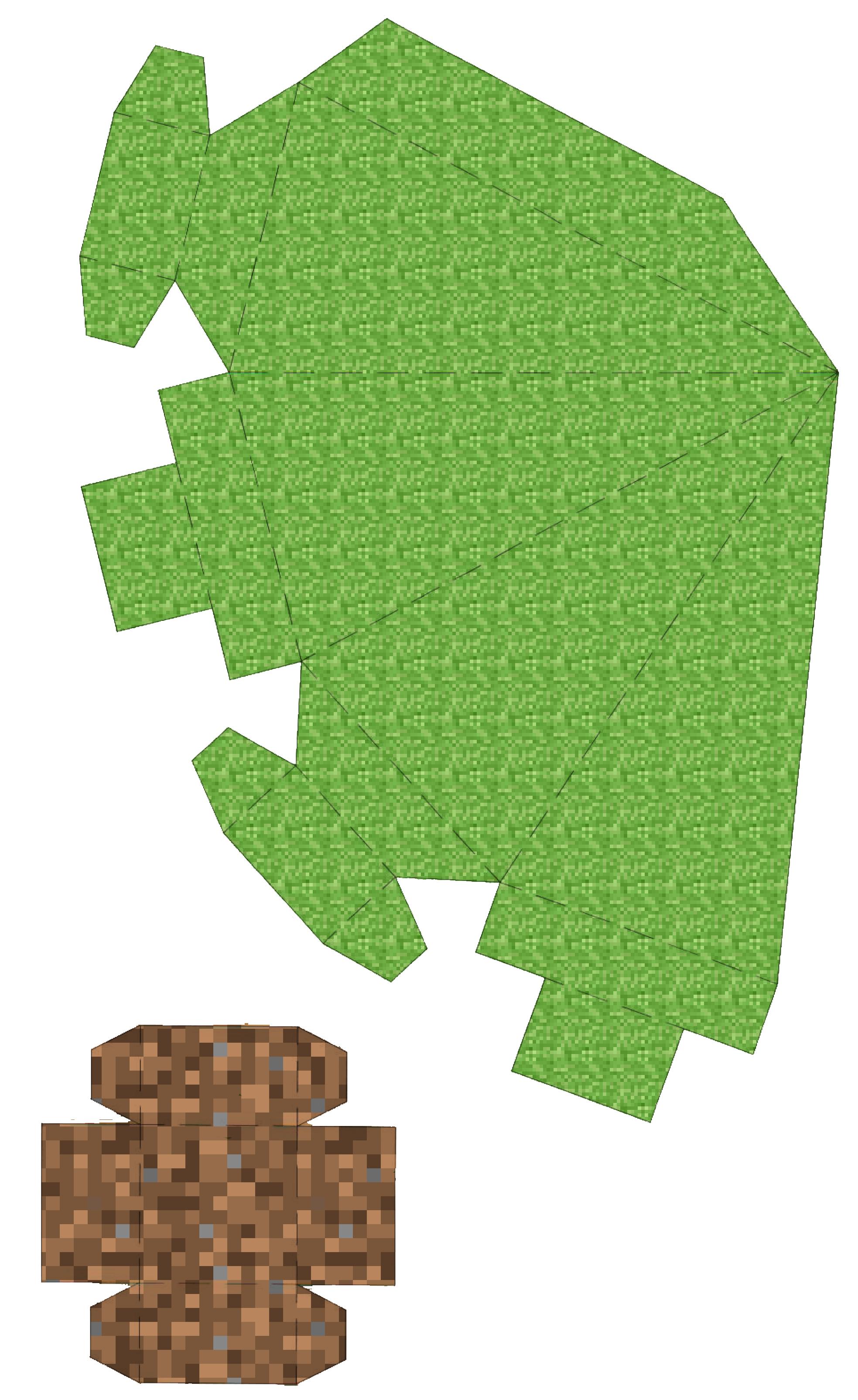 Minecraft Christmas Tree Printable