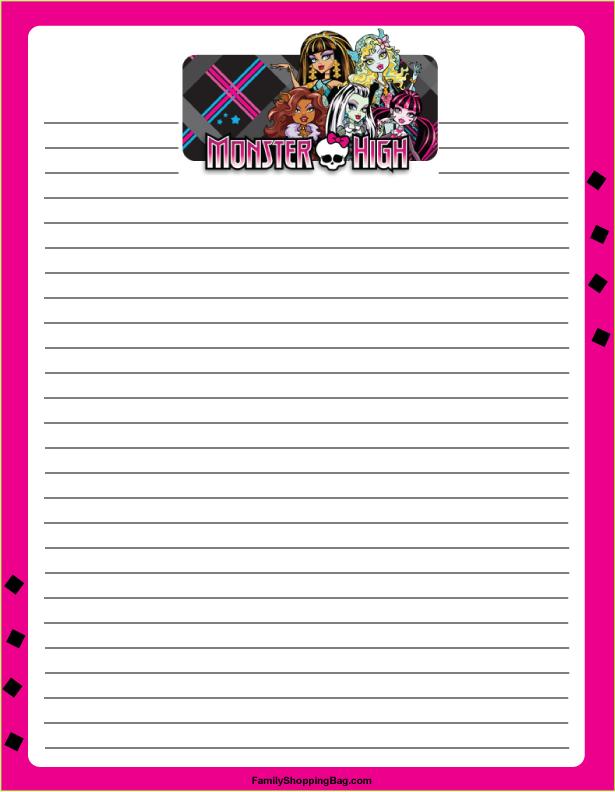 Worksheets Free Monster High Printable Activities 9 best images of monster high printable worksheets printable