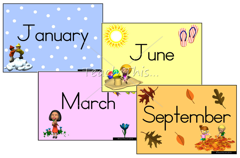 4 Images of Free Printable Months Of Year
