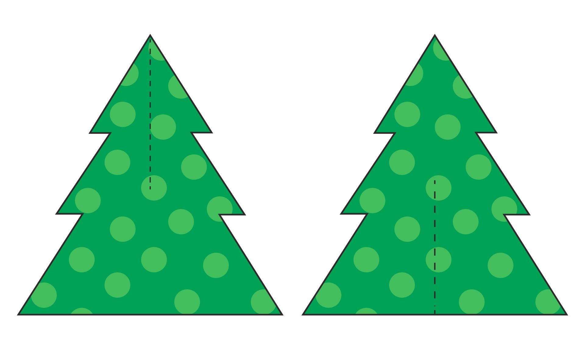 Шаблон елки из картона своими руками