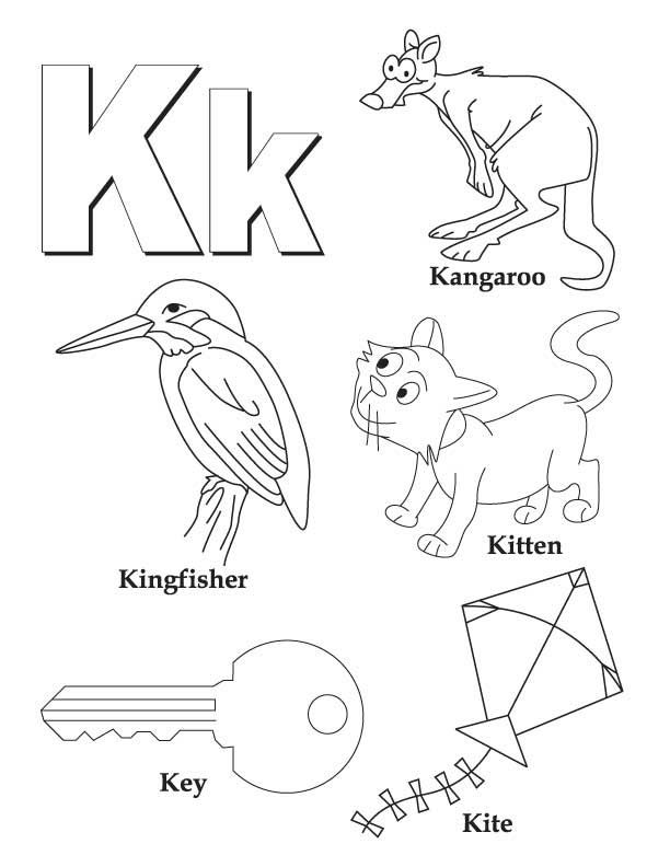 5 Images of Letter K Coloring Sheets Printable
