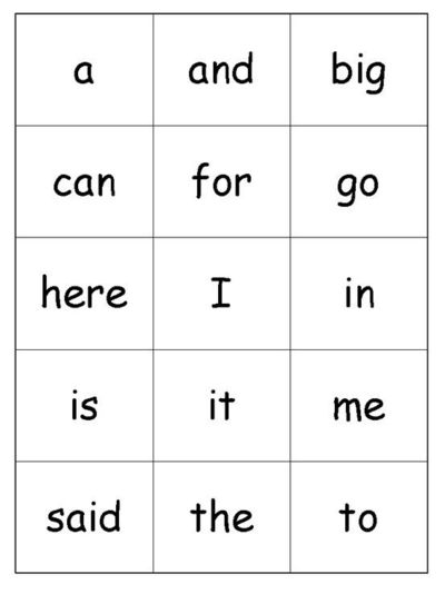 Number Names Worksheets printable sight words for kindergarten : 6 Best Images of Preschool Printable Kindergarten Sight Words ...