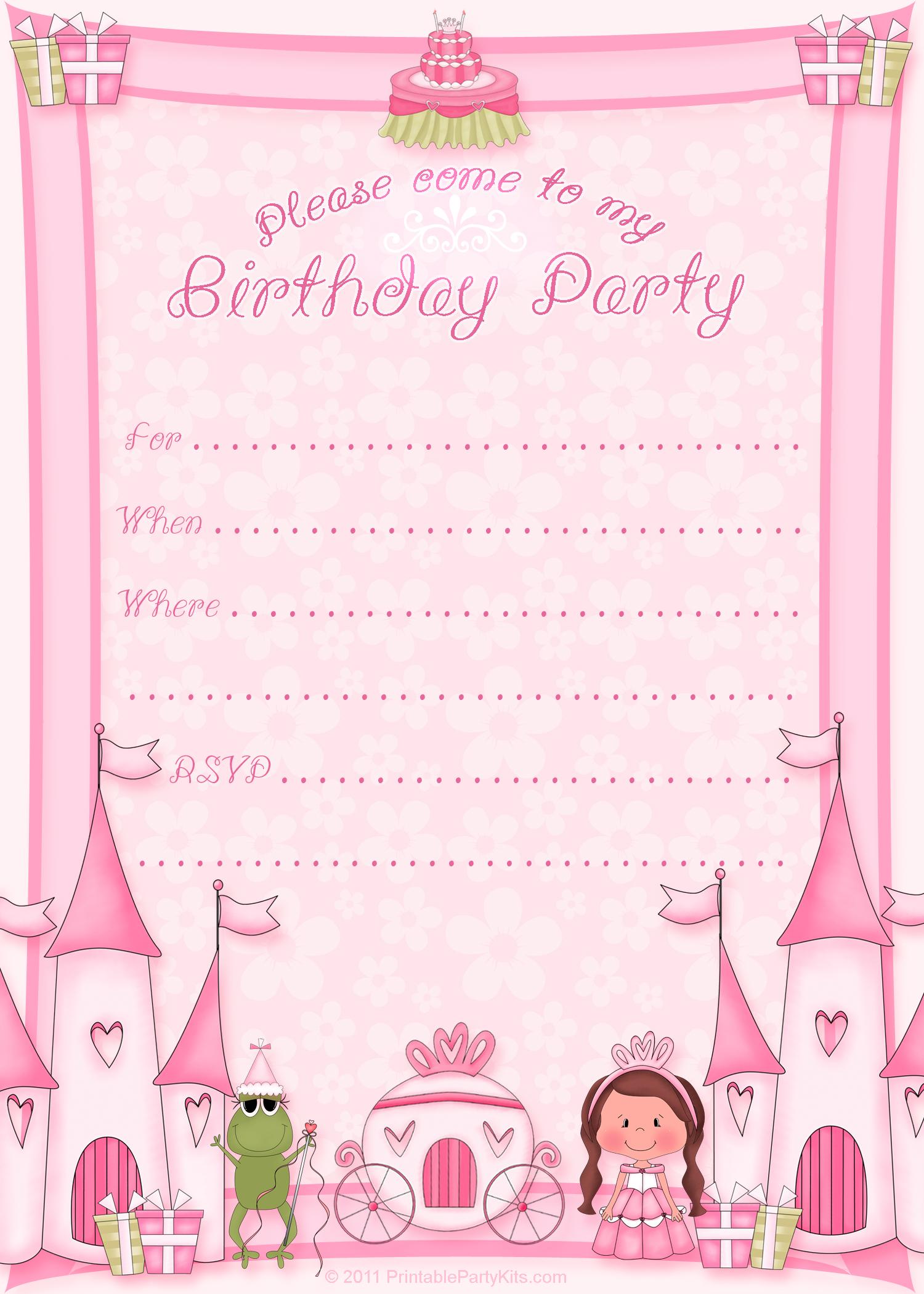 7 Images of Free Printable Princess Invitations